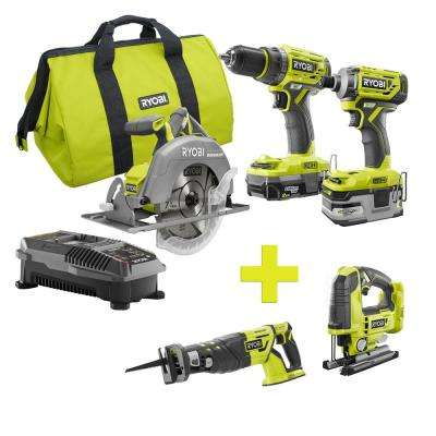 18-Volt ONE+ Lithium-Ion Cordless Brushless Combo Kit (3-Tool) w/Bonus Reciprocating Saw and Jigsaw