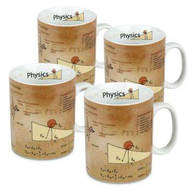 Konitz 4-Piece Mug of Knowledge Physics Porcelain Mug Set