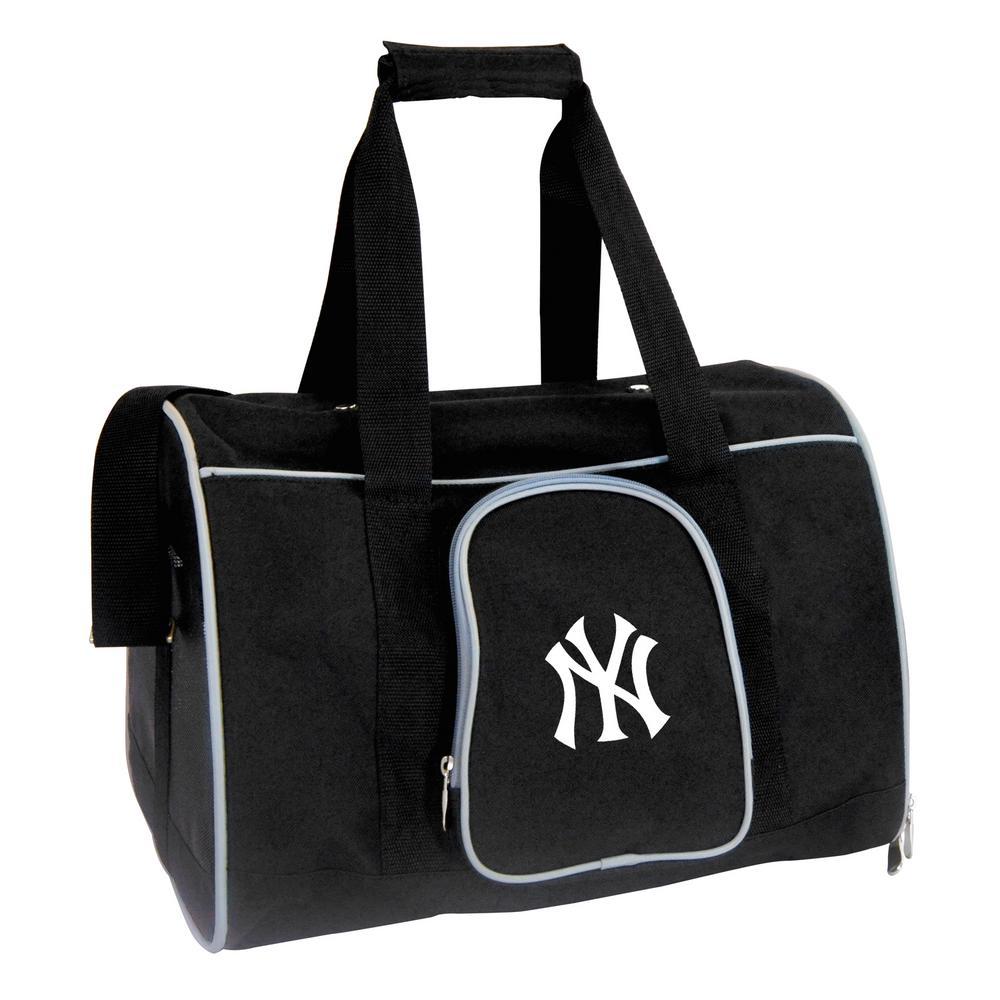 2ac389e029 Denco MLB New York Yankees Pet Carrier Premium 16 in. Bag in Gray ...