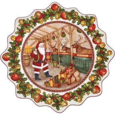 Toy's Fantasy 16.5 in. Large Pastry Plate, Santa's Stable
