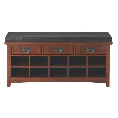 Artisan 3-Drawer Medium Oak Shoe Storage Bench