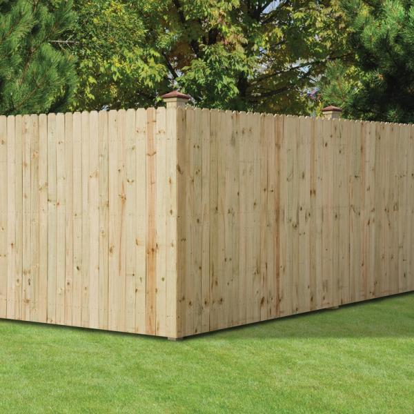 dog ear fence boards home depot