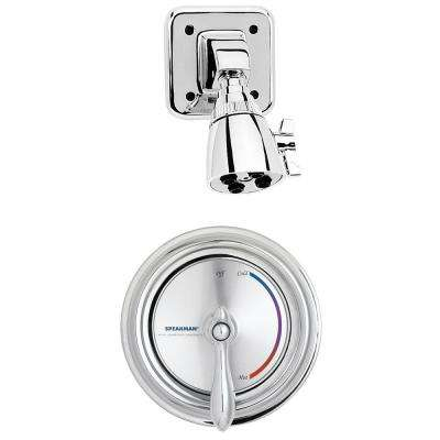 Sentinel Mark II Single-Handle 3-Spray Round Shower Faucet in Polished Chrome (Valve Included)