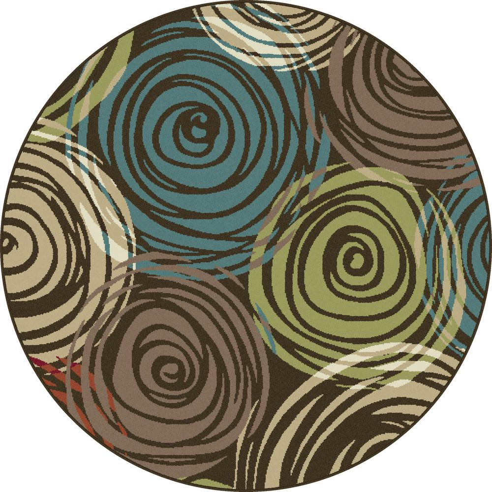 This Review Is From Deco Brown 5 Ft 3 In Contemporary Round Area Rug