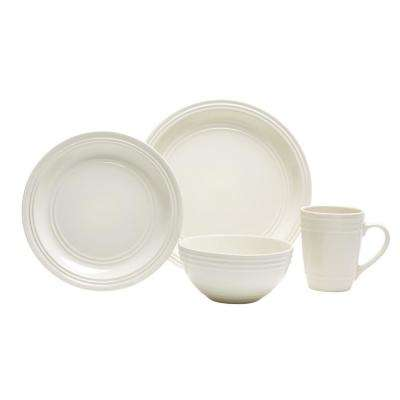 Allure 16-Piece Ivory Dinnerware Set