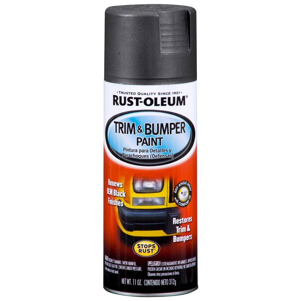 Rust Oleum Automotive 11 Oz Matte Black Trim And Bumper Spray Paint