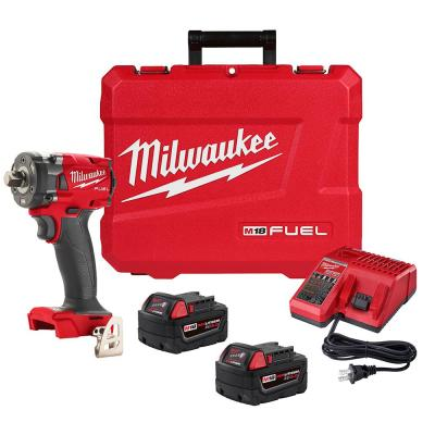 M18 FUEL GEN-3 18-Volt Lithium-Ion Brushless Cordless 1/2 in. Compact Impact Wrench with Pin Detent Kit