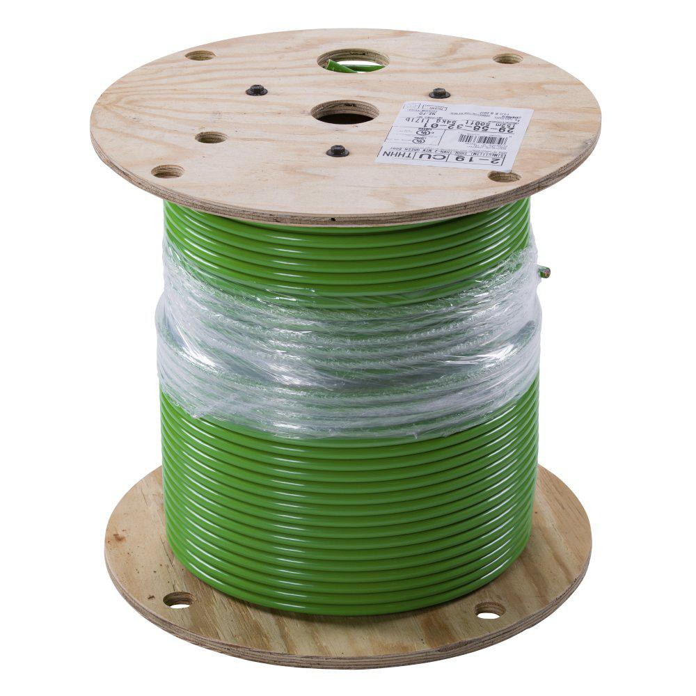 Southwire 500 ft. 2 Green Stranded CU SIMpull THHN Wire on