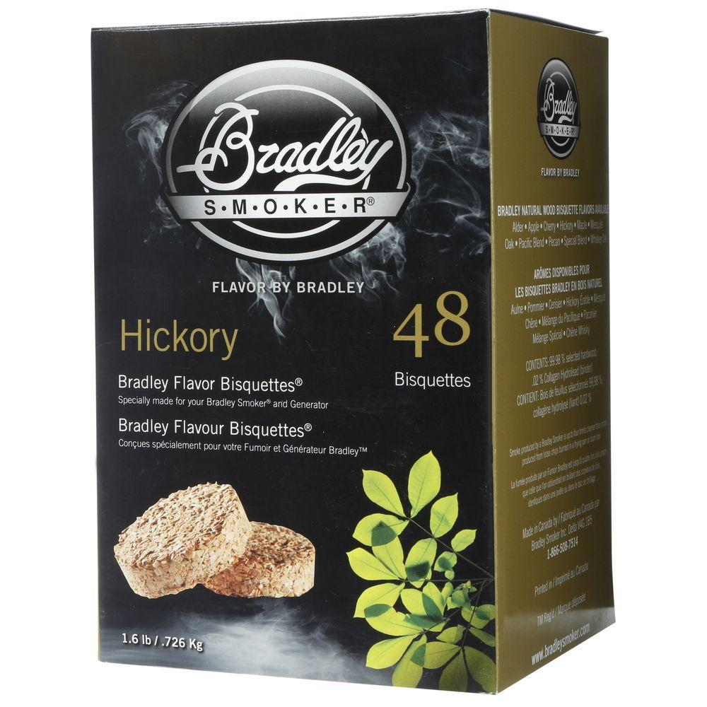 Bradley smoker hickory flavor bisquettes pack bthc