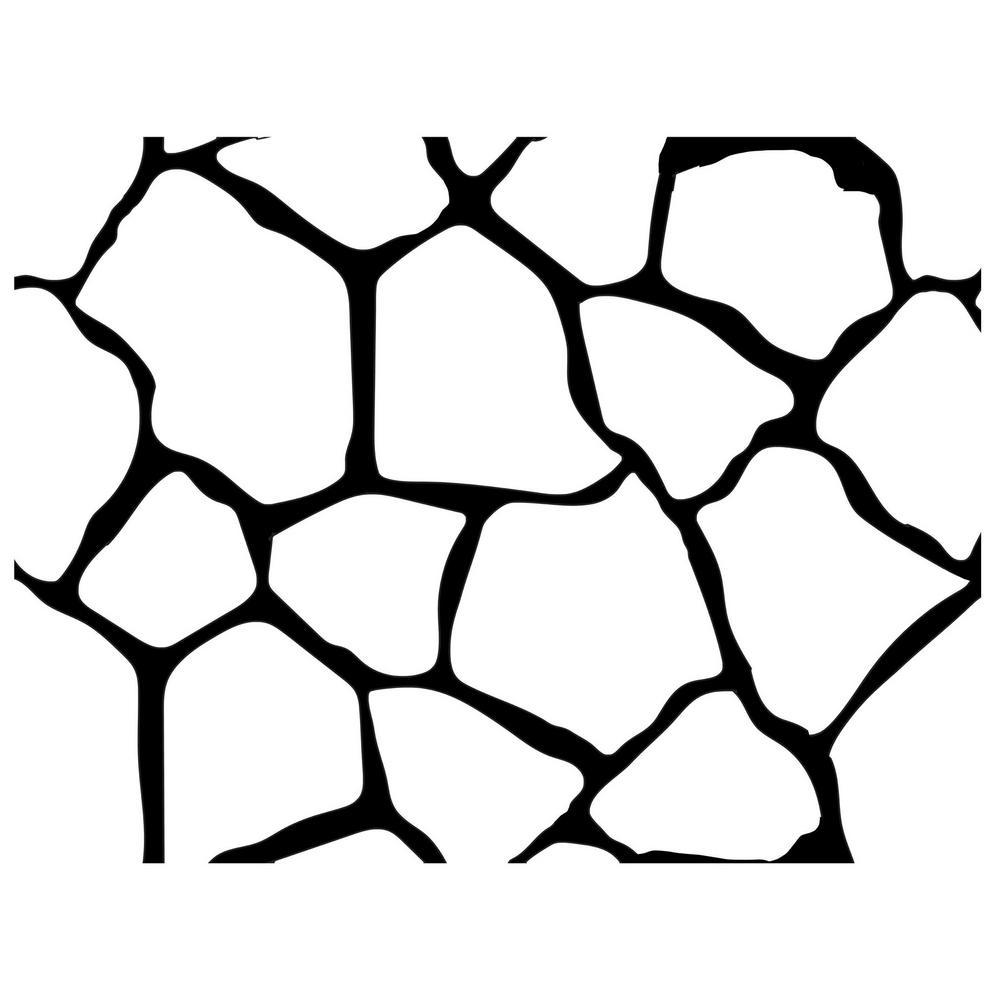 Flagstone Decorative Concrete Stencil 150 sq.ft. 20-Piece Kit with Adhesive
