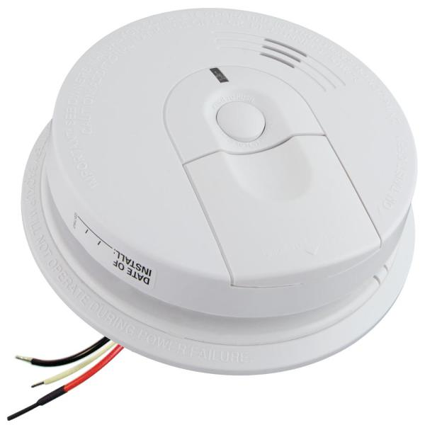FireX Hardwire Smoke Detector with 9-Volt Battery Backup and Front Load Battery Door