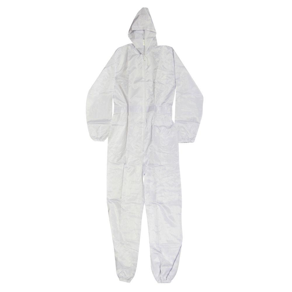 null Large White Polyester with Carbon Fiber Thread Spray Suit Ultra