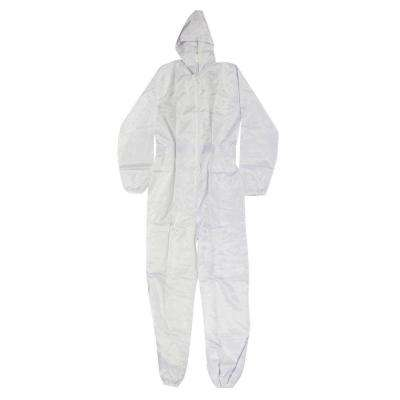 Large White Polyester with Carbon Fiber Thread Spray Suit Ultra