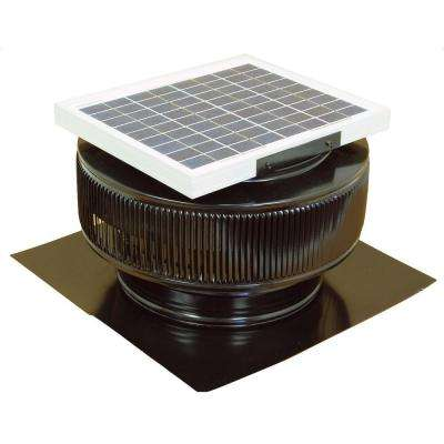 740 CFM Black Powder Coated 10 Watt Solar Powered 12 in. Dia. Roof Mounted Attic Exhaust Fan