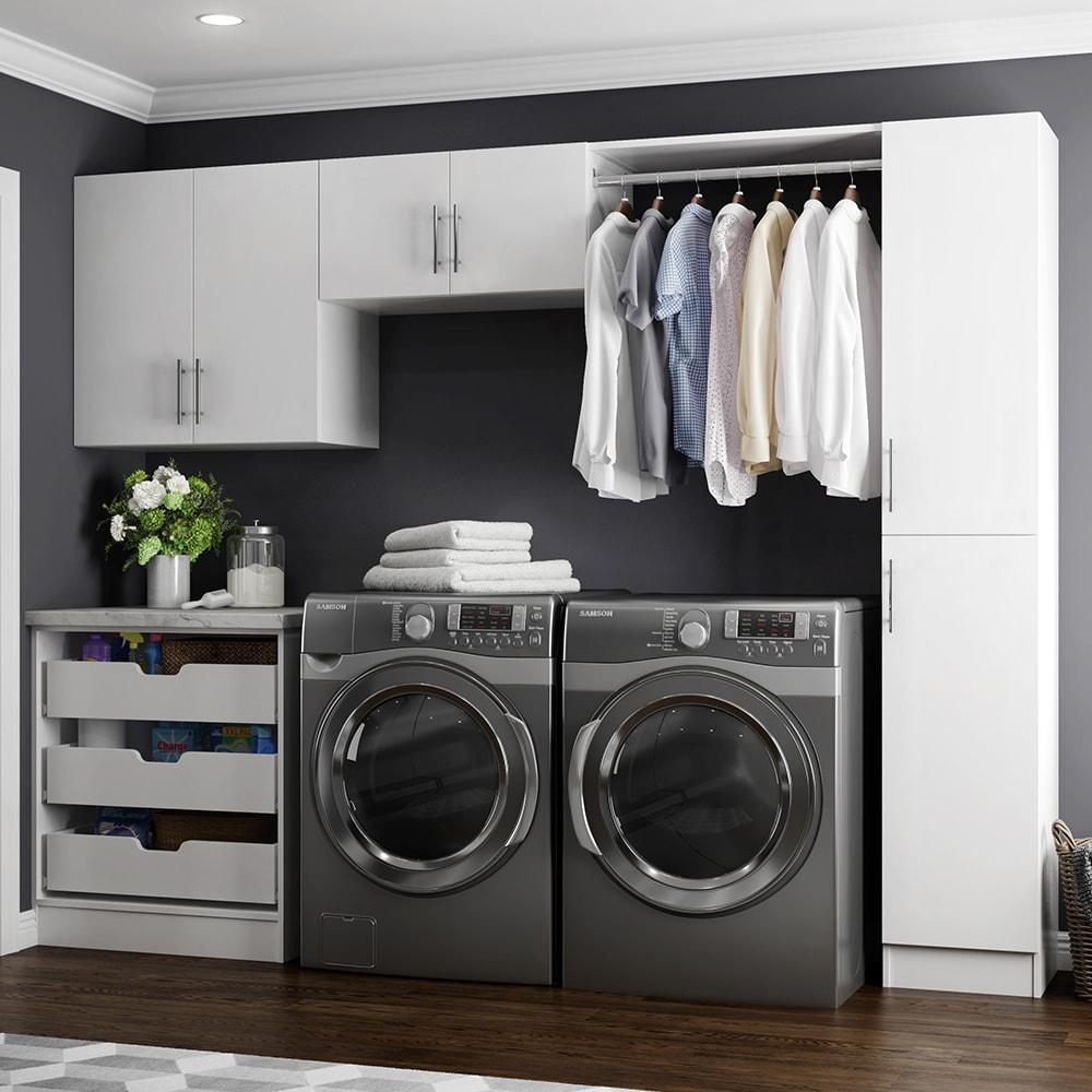 modifi horizon 105 in w white laundry cabinet kit enl105 hpw the home depot. Black Bedroom Furniture Sets. Home Design Ideas