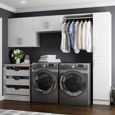 Horizon 105 In. W White Laundry Cabinet Kit