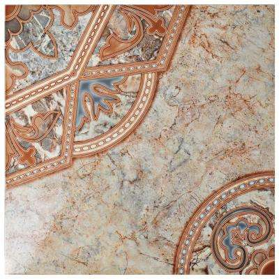 Tanger Red 19-3/4 in. x 19-3/4 in. Ceramic Floor and Wall Tile (16.2 sq. ft. /case)