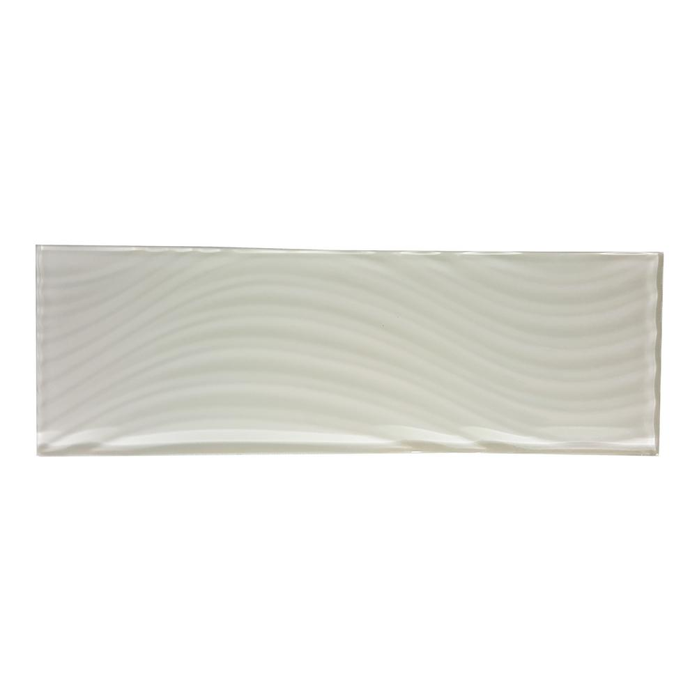 Pacific Rocky Beige 4 in. x 11-3/4 in. Glass Wall Tile