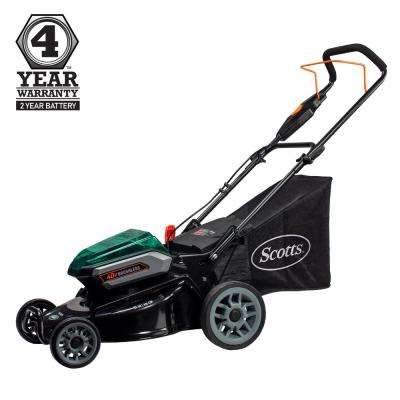 19 in. 40-Volt Lithium-Ion Cordless Battery Walk Behind Push Mower 5 Ah Battery and Charger Included