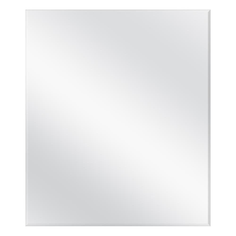 42 in. W x 36 in. H Frameless Rectangular  Bathroom Vanity Mirror in Silver