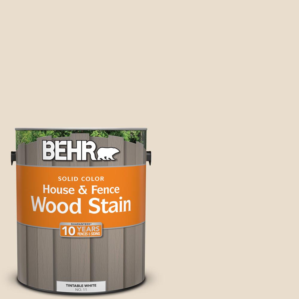 BEHR 1 gal. #23 Antique White Solid House and Fence Wood Stain ...