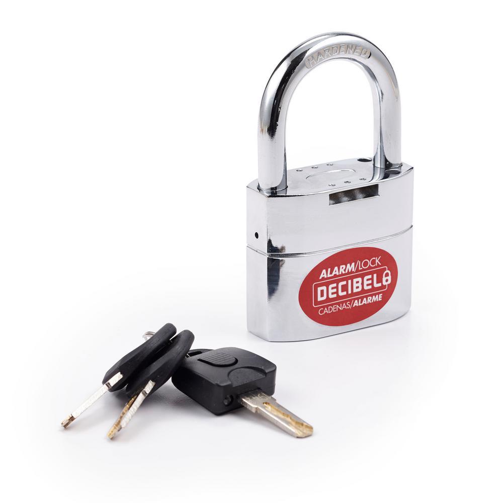 Ideal Security Inc. Decibel Padlock with Alarm 3/8 in. T Hardened Steel Shackle 110 Decibel Alarm All-Weather Portable Security