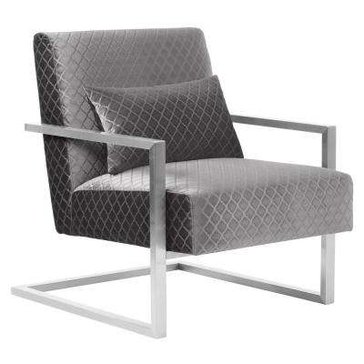 Skyline Gray Velvet Accent Chair