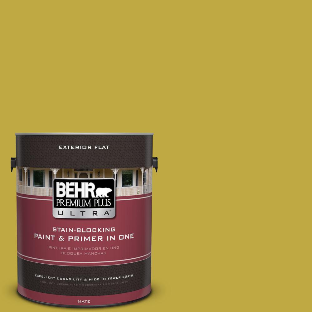 BEHR Premium Plus Ultra 1-gal. #P330-6 Margarita Flat Exterior Paint