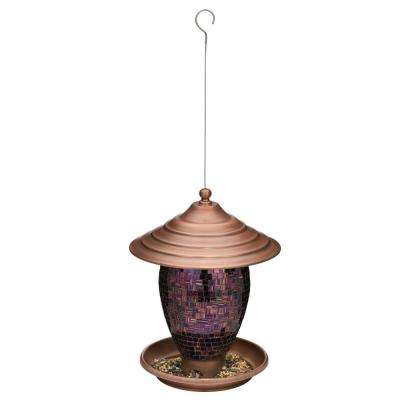 Bird Feeder - Purple Tiles