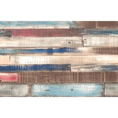 Scratched Wood Faux Materials Adhesive Film (Set of 2)