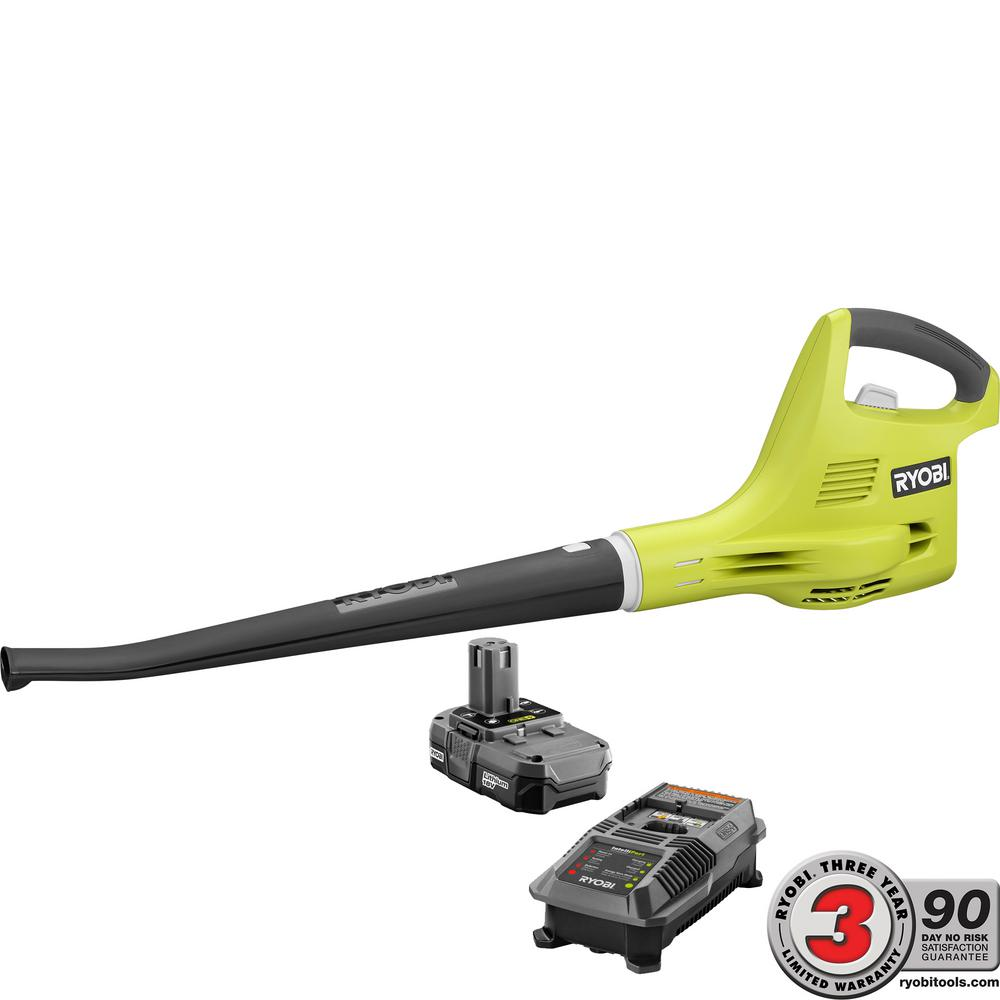 ONE+ 120 MPH 18-Volt Lithium-Ion Cordless Hard Surface Leaf Blower/Sweeper -