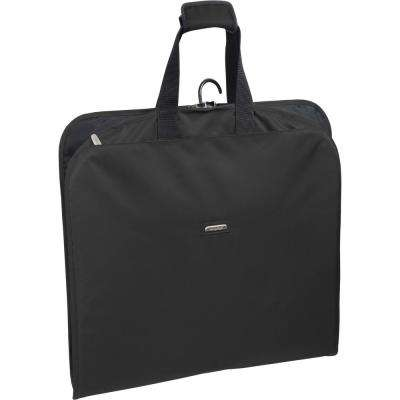 45 in. Black Suit Length Carry-On Slim Garment Bag with Multiple Pockets
