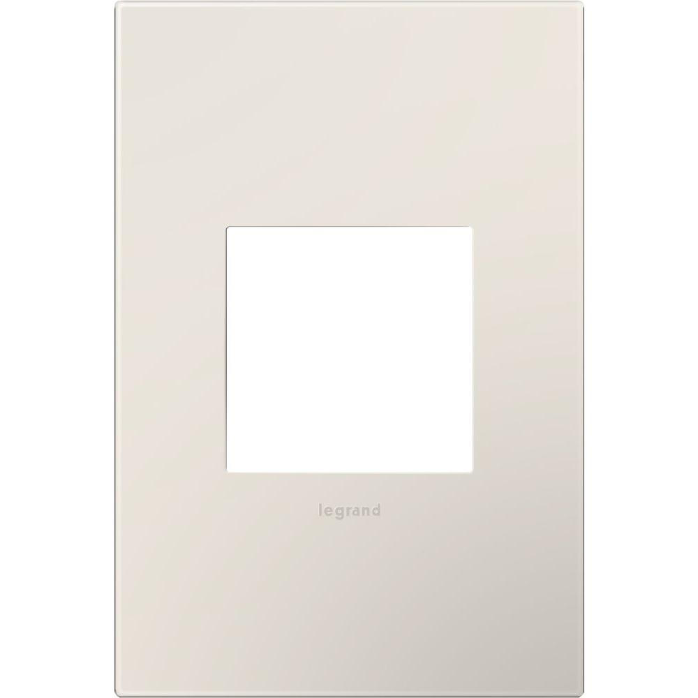 1-Gang 1 Module Wall Plate, Satin Light Almond