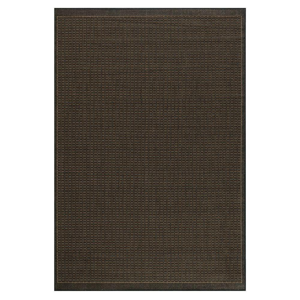 Home Decorators Collection Saddlestitch Black 5 ft. 3 in. x 7 ft. 6 in. Area Rug