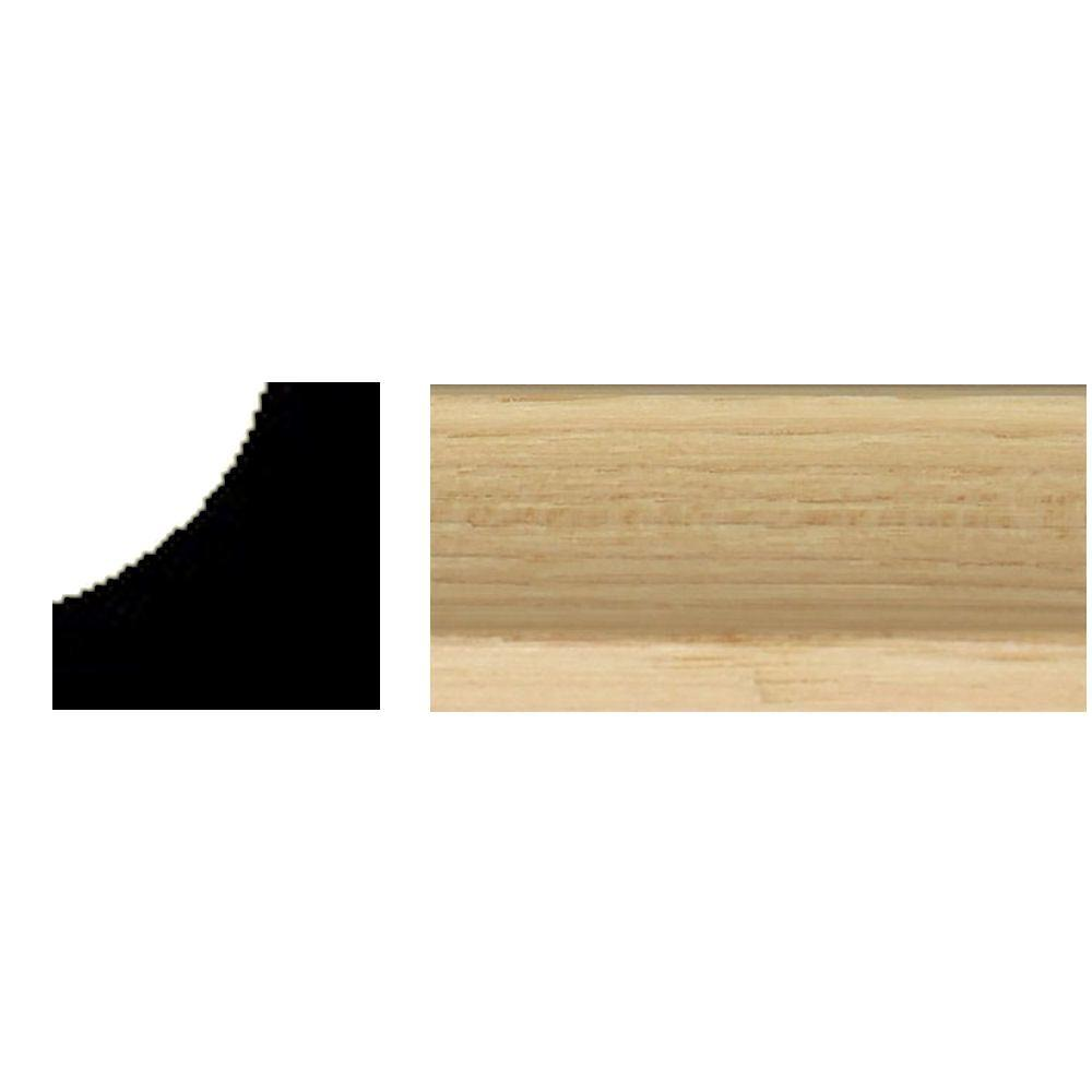 null 3/4 in. x 3/4 in. x 8 ft. Hickory Inside Corner Moulding
