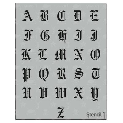 1 in. Old English Font Stencil