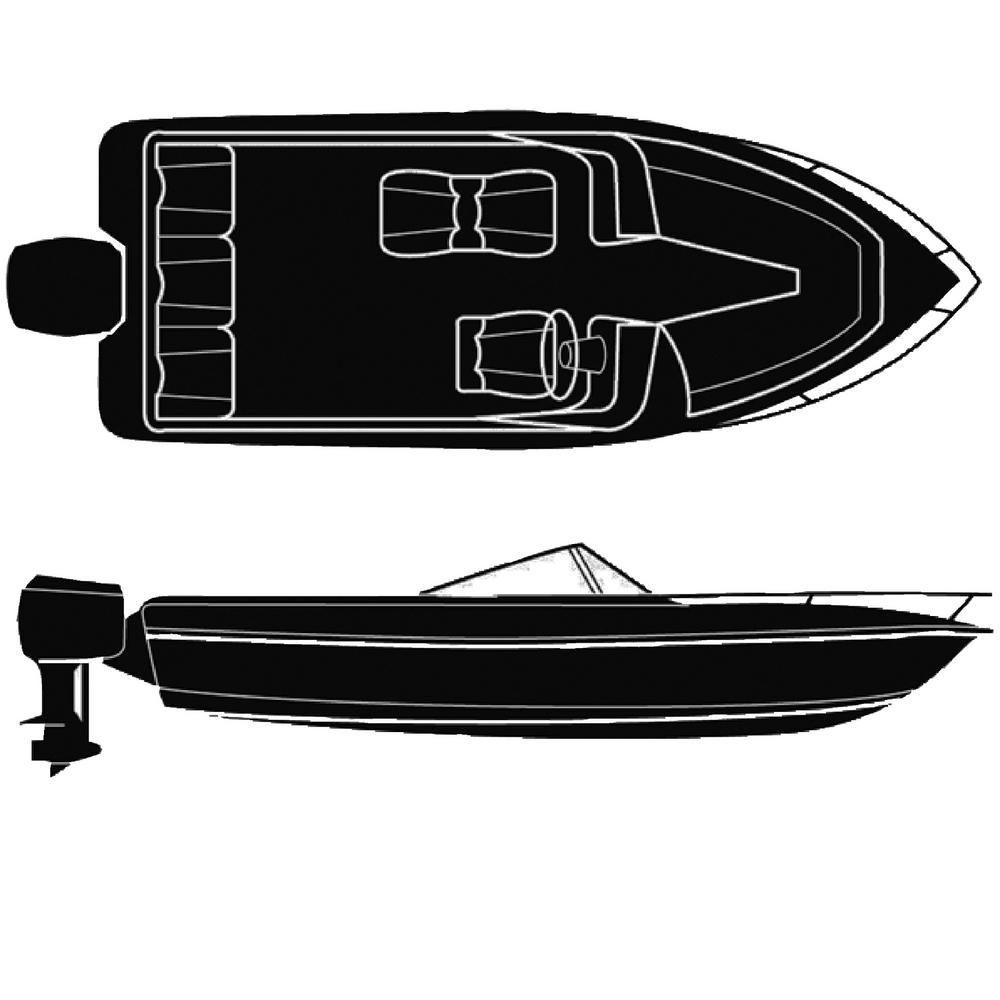 Haze Gray 10 oz. Cotton Duck Semi-Custom Trailerable Boat Cover