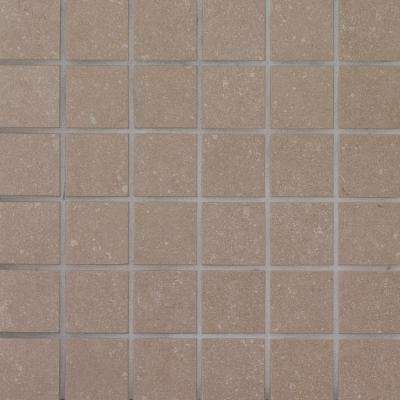 Beton Olive 12 in. x 12 in. x 10 mm Porcelain Mesh-Mounted Mosaic Tile (8 sq. ft. / case)