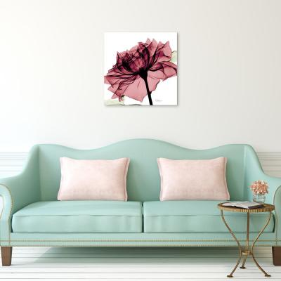"""""""Chianti Rose I"""" Frameless Free Floating Tempered Glass Panel Graphic Wall Art"""