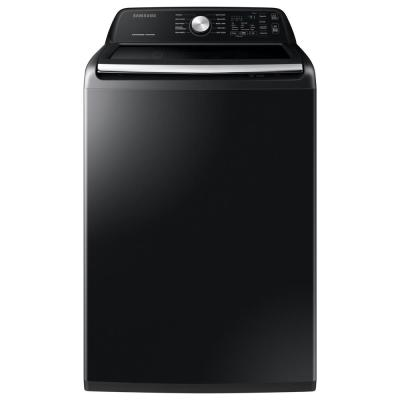27 in. 4.5 cu. ft. High Efficiency Black Stainless Top Load Washing Machine with Active Waterjet