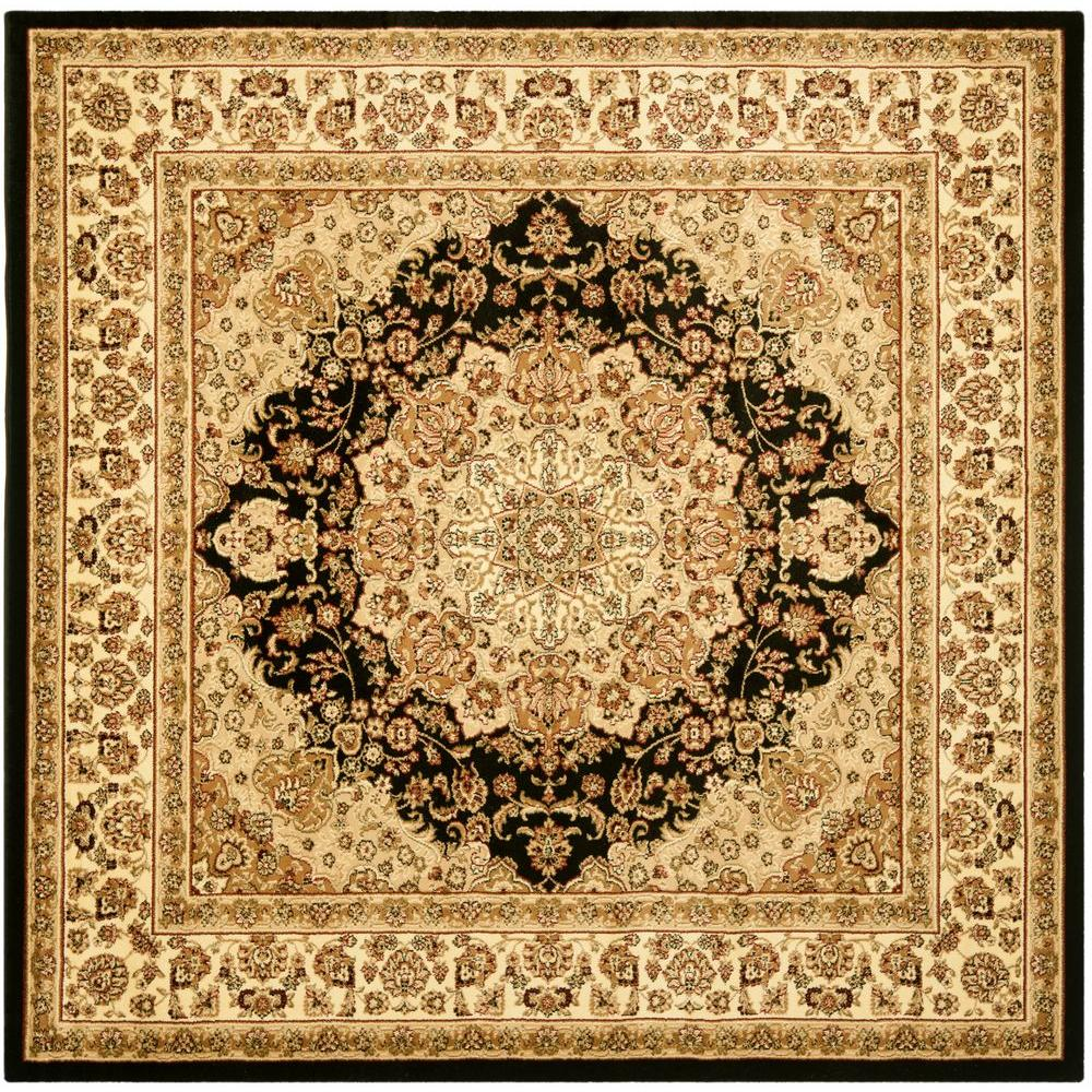 Safavieh Lyndhurst Black Ivory 8 Ft X 8 Ft Square Area