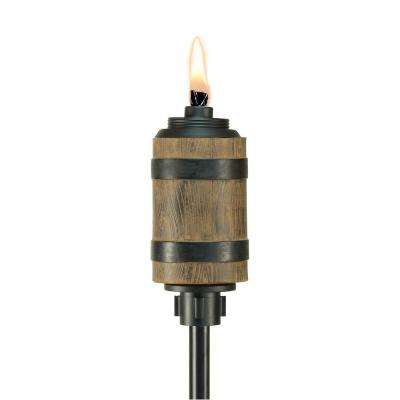 65 in. Barrel Resin Torch Brown