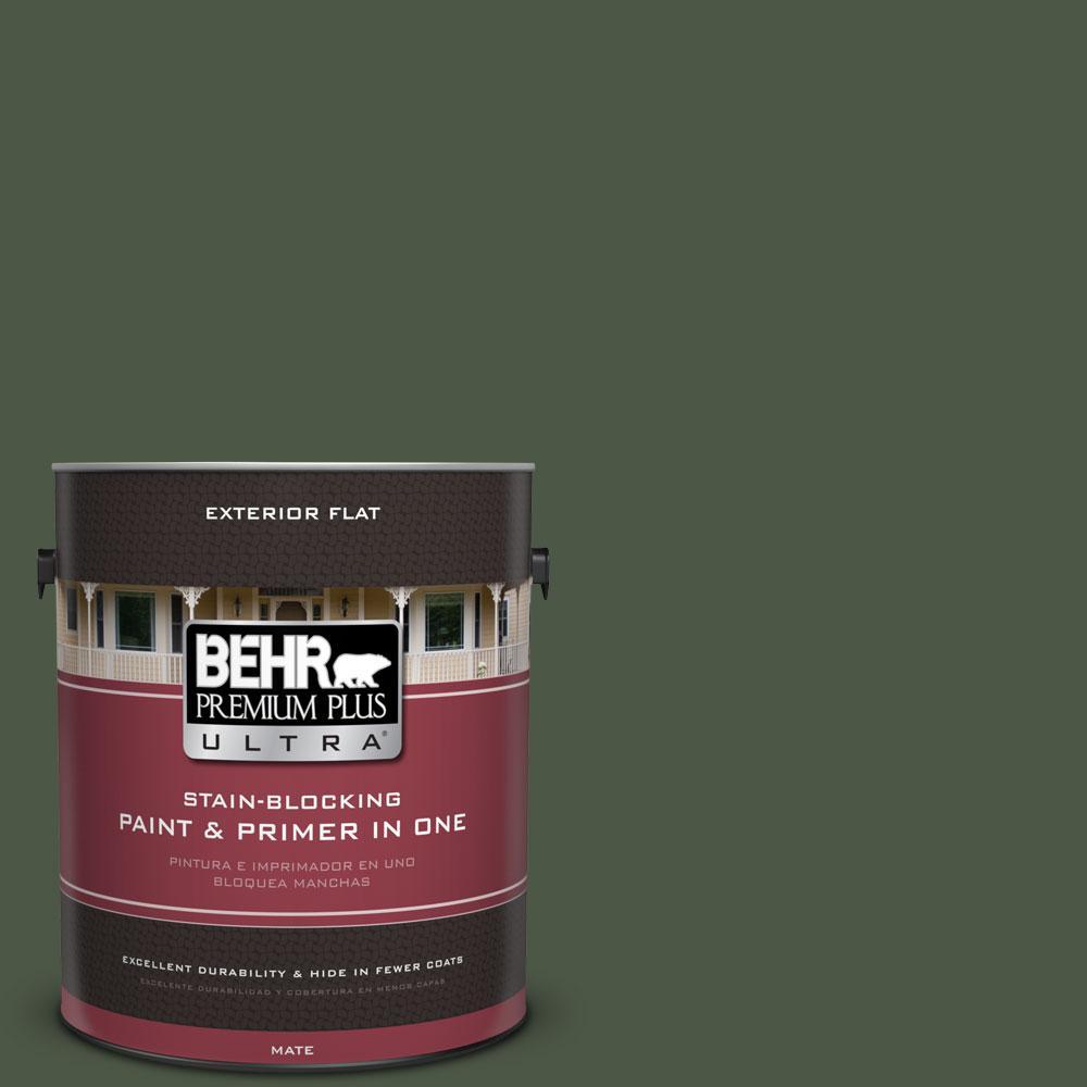 BEHR Premium Plus Ultra 1-gal. #440F-7 Fresh Pine Flat Exterior Paint