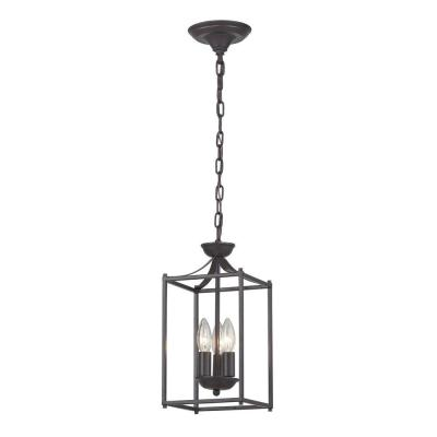 Arthur-Rustic Iron 3-Light Aged Bronze Lantern