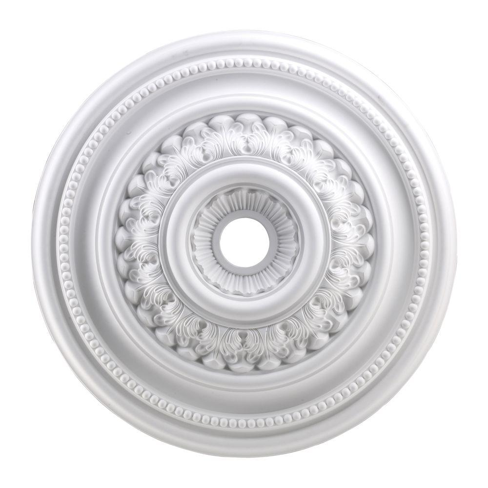 An Lighting English Study 32 In White Ceiling Medallion