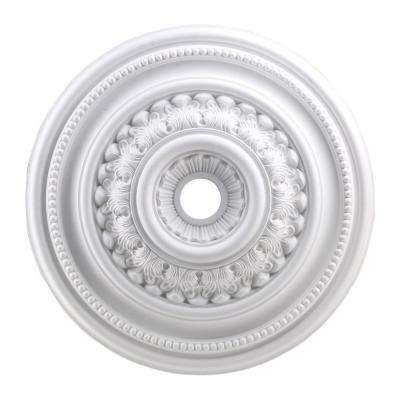 English Study 32 in. White Ceiling Medallion