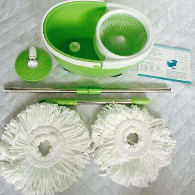BLL-22A 360° Rotary Head Ultra Slim Microfiber Mop with Oval Bucket in Green