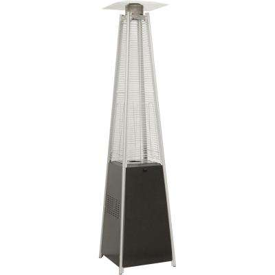 7 ft. 42,000 BTU Black Pyramid Propane Gas Patio Heater