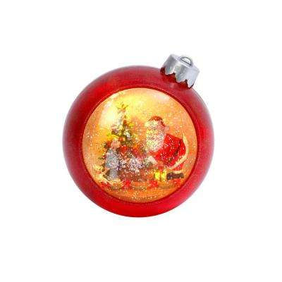 7.5 in. H Lighted Musical Santa Scene Water Globe with Timer