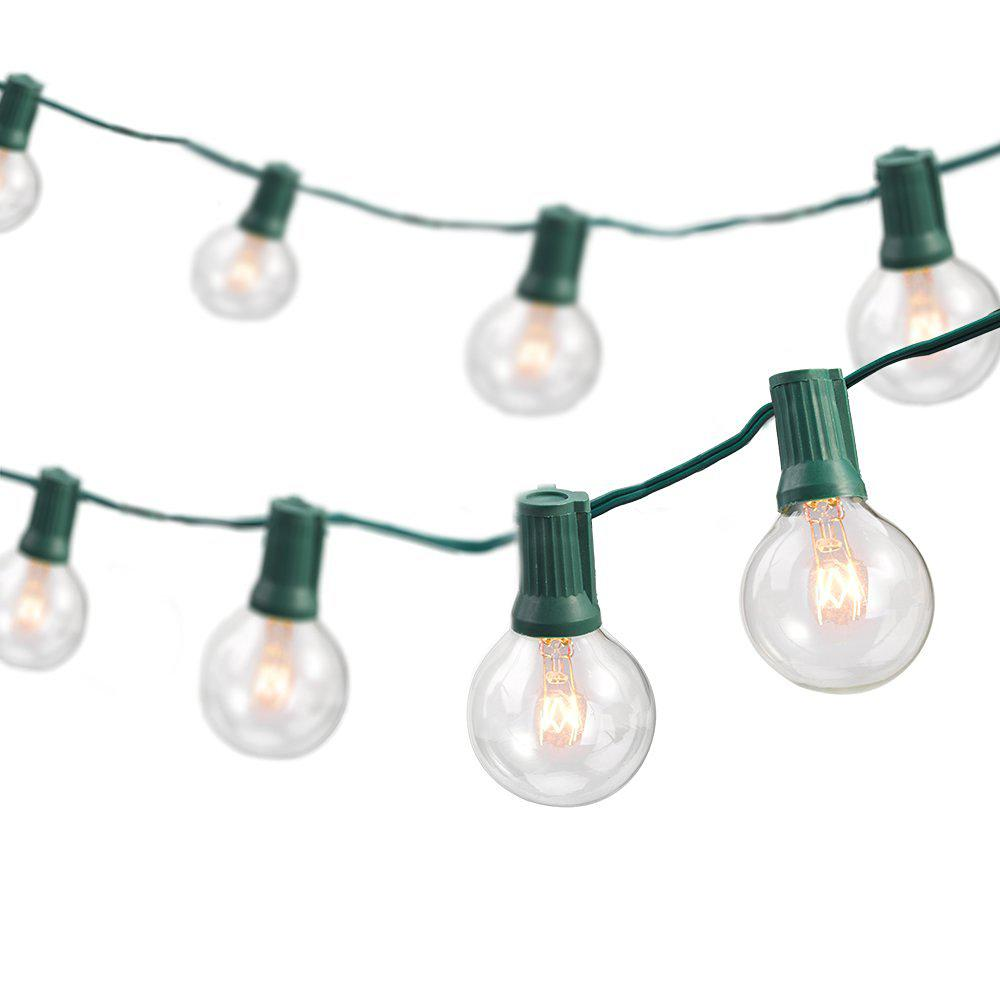Newhouse Lighting 25 ft. Indoor/Outdoor Weatherproof Party String Lights with 25 Sockets Light ...